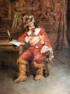Mosquetero, 1877 - Antonia Sala Martí (Barcelona, circa 1850  - Madrid,  activa 1878). Marti, Barcelona, Painting, Painting Art, Barcelona Spain, Paintings, Painted Canvas