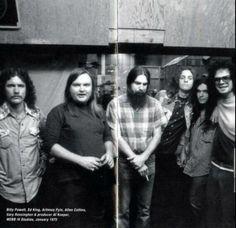 1973. Allen with Arty, Gary, Billy & Al Kooper.