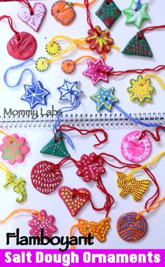 Salt Dough Christmas Ornaments - Artful and Easy to Make with Kids. Check Out the Salt Dough Recipe and the Step by Step Tutorial.  www.mommy-labs.com