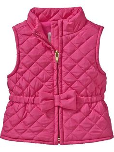 quilted vest with bow