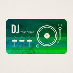 Dj business card dj business cards pinterest dj business cards modern professional dj record player cover business card colourmoves