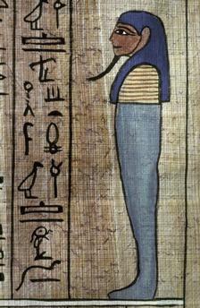 défunt dans les tâches quotidiennes de l'Au-delà. Fac-similé du Livre des Morts sur papyrus d'Ani. EGYPTE, vers 1420 av. J.–C.