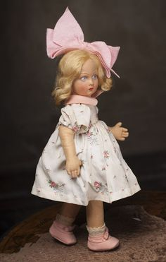 "14"" (36 cm) Antique Italian Lenci Girl Doll with Lucia Face, all from respectfulbear on Ruby Lane"