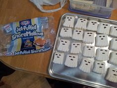 Minecraft Ghast marshmallow treats: Winter minecraft party: Scrapbooking and Other Tidbits: Epic Minecraft Birthday Party : could put on sticks : craft sale idea : stocking stuffers for kids who love minecraft Minecraft Birthday Party, 10th Birthday Parties, Birthday Fun, Birthday Party Themes, Birthday Ideas, Minecraft Party Ideas, Minecraft Party Decorations, Minecraft Food, Minecraft Crafts