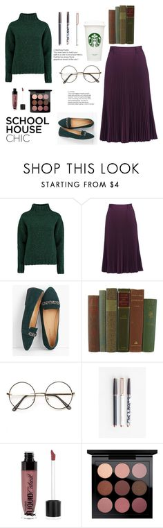 """""""Untitled #427"""" by lillianscollins ❤ liked on Polyvore featuring Lowie, Prada, Talbots, U Brands, Wet n Wild and MAC Cosmetics"""