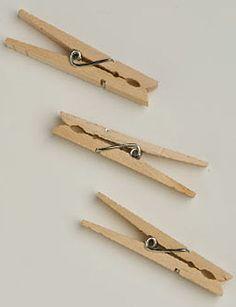 Clothespins, Set of 50