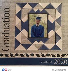 Graduation Scrapbook, School Scrapbook, 12x12 Scrapbook, Scrapbook Templates, Scrapbook Designs, Graduation Cards, Scrapbooking Layouts, School Days, School Stuff