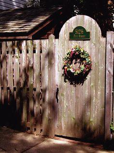 Quaint gate in Alexandria VA