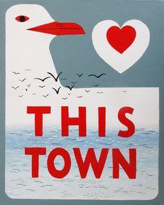 "3 Fish Studios — ""I Love This Town"" Print"