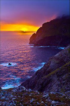 sunset, St. Kilda, Scotland