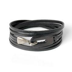 genuine leather hook bracelet for men