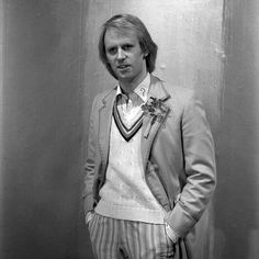 Black and White still of the Fifth Doctor from Enlightenment Fifth Doctor, Good Doctor, Sylvester Mccoy, Colin Baker, Rose And The Doctor, Paul Mcgann, Peter Davison, Jon Pertwee, William Hartnell
