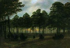 Caspar David Friedrich (1774 – 1840), c1820-21 The Evening, oil on canvas, 22 x 30.5 cm.