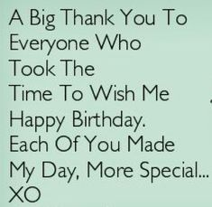 Thank You Messages For Birthday Wishes Facebook