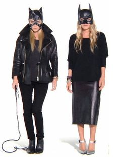 marykate ashley olsen catwomen black fashion blonde