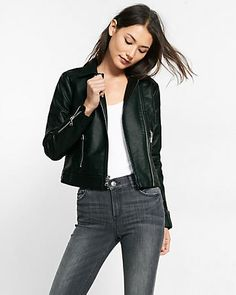 (minus the) leather pebbled zip moto jacket