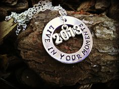 Graduation Hand Stamped Necklace by CharmletteDesigns on Etsy, $26.00