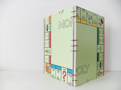 Handmade Monopoly Notebook - upcycled from a vintage London Monopoly Board               #PeonyandThistle #monopoly #handmade