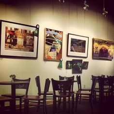 Enjoy a meal in our art gallery! View our full menu at http://latrobeartcenter.org/cafe/ #cafe #art #coffee