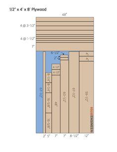 DIY Faux Fireplace Mantel Surround Plans - Cut List