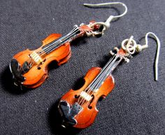 Violin Earrings with Box Miniblings 2 Violins Music by miniblings, €19.99