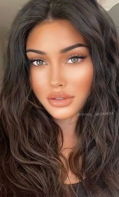 Most Beautiful Faces, Stunning Eyes, Gorgeous Women, Brunette Beauty, Brunette Girl, Belle Silhouette, Glamour Makeup, Nude Makeup, Flawless Beauty