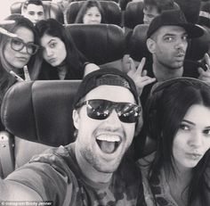 The jenners/kardashians en route to Greece