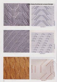 """Photo from album """"узоры on Yandex. Knitting Charts, Lace Knitting, Knitting Stitches, Knitting Socks, Knit Crochet, Stitch Patterns, Knitting Patterns, Crochet Patterns, Album"""