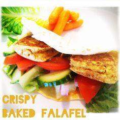 Crispy Baked Falafel Recipe (I won't put them in the frying pan, just follow original recipe: 400 degrees  F for 25 mins!)