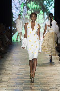 Silvia Tcherassi SS2017 Caribbean inspired v-neck dress