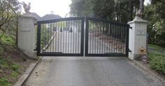 Image result for motorized driveway gate eyebrow shape