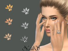 The Sims Resource: Three spikes ring by NataliS • Sims 4 Downloads