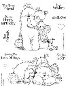 ~~pinned from site directly~~ . . .  THIS IS ACTUALLY A STAMP, BUT IF THE PIC IS PRINTED OFF IT COULD BE A CUTE COLOR PAGE FOR A LITTLE ONE.    Kanban clear rubber stamps - Annabel