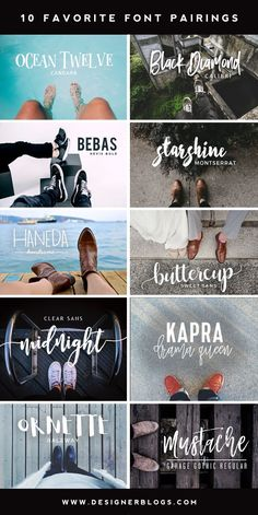 10 Favorite Font Pairings fonts / font / script / brush / handwritten / type / graphic / design / cursive / calligraphy / typography / modern / handwriting / handlettered / handlettering / typedesign / typeface / handmadefont / brushtype