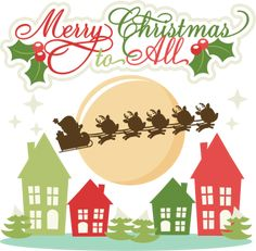Merry Christmas To All SVG Cutting Files Svg Cuts Reindeer Cut For Scrapbooking