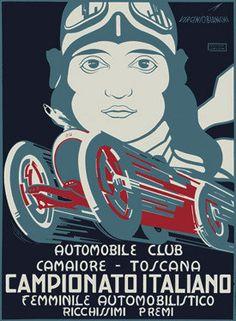 Italian Formula 1 Championship Ad Fine Art Print