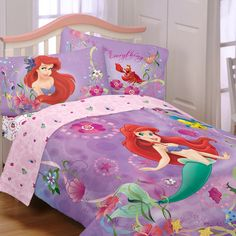 Disney's Little Mermaid Sea Dance Twin Sheet Set. Use comforters that go with the decor and have fun with the sheet sets!