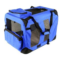 New 32' Dog Pet Foldable Portable Soft Crate/Tent (Size: 32'x23'x23'. Color: Blue) >>> Check this awesome image  : Dog crates
