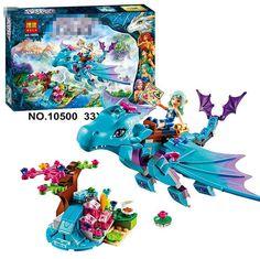 214ピース/セットbela 10500は水竜冒険の建設用れんが·ブロックdiy知育玩具互換lepinエルフ41172 p640