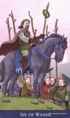 Six of Wands ~ Llewellyn's Classic Tarot