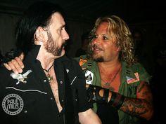 Lemmy of Motörhead and Vince  Neil of Mötley Crüe