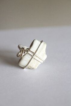 Stone Ring Size 7  Rock Ring  Wire Wrapped by BessiesCreations