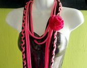 T-shirt Scarf Up-Cycled Re-Cycled Jersey Infinity Scarf  KNOTTY SEAWEED EARTHY. $15.00, via Etsy.