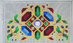 Original hand-painted embroidery pattern chart made in between 1787 – 1900, Landwehr.  Recharted from an original hand painted Berlin woolwork chart.  Only cross-stitch, no other stitches (blends, backstitch, french knot)  Feasibility: Easy  The scheme can be used for beadwork. Recommend Delica seed beads in size 11  170 x 160 stitches  21 colors DMC  Included in this easy to read PDF: - Colour image of the finished design - Black and White Symbol Chart - Color Floss Legend with DMC stranded…