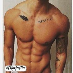 Joris Schriftzug - My list of the most creative tattoo models Small Tattoos Men, Small Chest Tattoos, Chest Tattoos For Guys, Rib Tattoos For Guys, Body Art Tattoos, Sleeve Tattoos, Tatoos, Ab Tattoo, Tattoo Plume