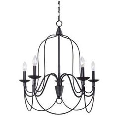 Manor Brook Rivy West Oil Rubbed Bronze Chandelier with Silver Highlights at The Home Depot - Mobile Bronze Chandelier, Candle Chandelier, 5 Light Chandelier, Candelabra Bulbs, Chandeliers, Chandelier Ideas, Ceiling Installation, 49er, Houses