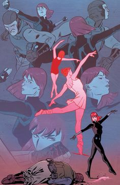 Black Widow by Mark Waid, Chris Samnee, Matthew Wilson, and Joe Caramagna Marvel Fan Art, Marvel Dc Comics, Marvel Heroes, Marvel Avengers, Black Widow Scarlett, Black Widow Natasha, Fanart, Black Widow Aesthetic, Bucky And Natasha