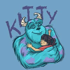 Monsters inc Monsters Inc Nursery, Sully Monsters Inc, Disney Monsters, Arte Disney, Disney Fan Art, Disney Love, Disney Magic, Disney Pixar, Sully And Boo