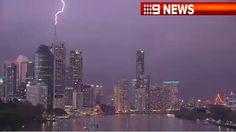 Lightning Strikes hit Brisbane, Queensland, Australia 17Nov 2012. Photo via channel 9 news.