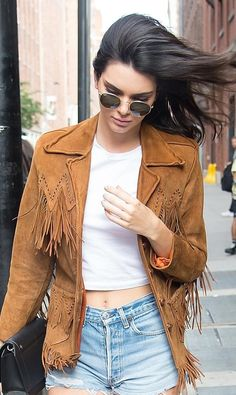 Kendall Jenner with windswept waves.